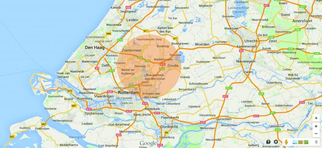kaart werkgebied
